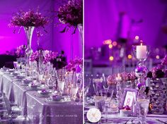 Tres Chic Weddings & Events: Purple and Gray Wedding