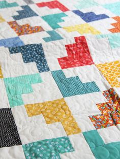 Hello March Quilt Closeup