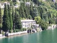 Villa dei Cipressi, Varenna, lake of Como. The beautiful gardens are characterized by rows of cypresses, from which the villa takes its name.