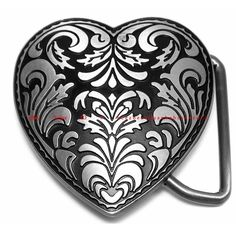 BBU1810E LOVE YOU FOREVER FLORAL FLOWER HEART ANCIENT ANTIQUE STYLE BELT BUCKLE #Unbranded