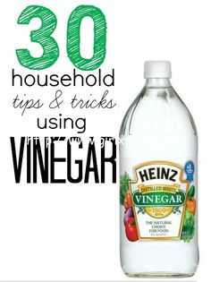 Here are 30 ways to use vinegar   1. For the Furniture:  Who will like the water rings on expensive wooden furniture. To remove those water marks, mix equal parts vinegar and olive oil. Dip a ...
