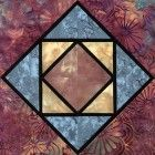 Stained Glass Cradlesong Quilt Block Pattern