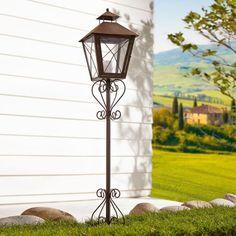 Solarleuchte, Lanterne Solar, Antik aus Metall, Terrassenbeleuchtung ...