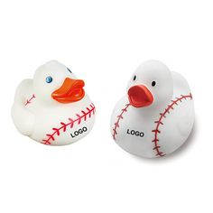 Baseball rubber duck toy! Baseball pattern, 1 color logo on front,Here is a fun twist on the iconic rubber duck! This unique rubber duck has a body designed to look like an angel, dressed in white with a silver halo. This is the perfect promotional product for schools, clubs and fundraisers! This item can be ordered as blank stock or can be customized to your specifications to create a one of a kind product that is sure to be the hit of your next fundraising event or campaign! #themed #duck
