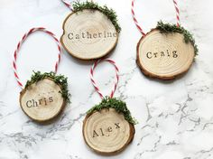 Wooden Gift Tags / Personalized Gift Wrap / Personalised Name