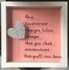 Mother's Day Shadow Box mothers day gift; shadow box; mother's day , step mom, best mom , gift for mom / mothers day gift idea by SweetNSassyByAlicia on Etsy