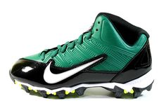 Nike Boy's Alpha Shark 3/4 BG Green/Black Football Cleats 642771 013
