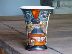 Pottery Mug for Cold Drinks Ceramic Clay Mug with by DankoHandmade