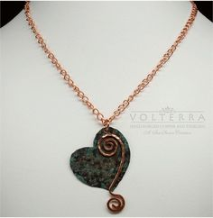Hand Forged Rustic Copper Heart Pendant  PRICE by SunStones, $28.00