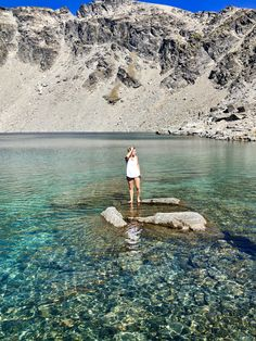 Lake Alta, Queenstown, New Zealand...crystal clear water