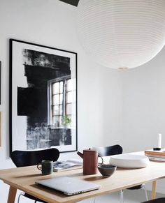Paper Collective (@papercollective) • Instagram-billeder og -videoer Black And White Posters, Crazy Day, Negative Space, Designer Wallpaper, Home Office, Art Prints, Monochrome, Furniture, Collection