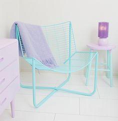 Pastel home decoration Casa Color Pastel, Pastel Blue, Interior Inspiration, Room Inspiration, Interior Pastel, Painted Furniture, Home Furniture, Vintage Furniture, Deco Pastel