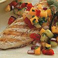 Grilled Salmon Vera Cruz with Lemon-and-Thyme-Scented Salsa PARADE  | April 2002