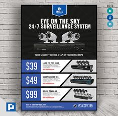 This CCTV Promotional Product Flyer Design has been develop to boost your marketing campaign. Flyer Design Templates, Psd Templates, Promo Flyer, Cctv Surveillance, Camera Shop, Marketing Opportunities, Marketing Flyers, Promotion, Tech