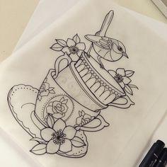 New bird tattoo foot grandmothers 55 ideas Bird Tattoo Foot, Foot Tattoos, Body Art Tattoos, Teapot Tattoo, Cup Tattoo, Tribal Tattoo Designs, Pretty Tattoos, Unique Tattoos, Kawaii