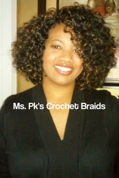 This lovely client is wearing GoGo curl 1b by FreeTRess shoulder length. Install time 3 hours. See StyleSeat for services and price list. Hair installed by Ms. PK's Crochet Braids #mspkscrochetbraids #protectivestyles #crochetbraids