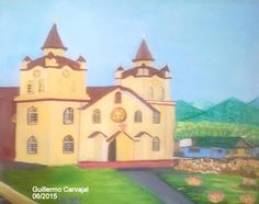 GUILLERMO CARVAJAL ALVARADO. COSTA RICA : SU PINTURA : LA IGLESIA DE LLANO GRANDE DE CARTAGO