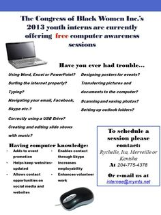 Since the summer of 2013 until March 2014, our youth interns offered free computer training to the Winnipeg community!