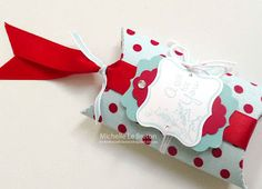 michelles card classes: My beautiful pillow box die  Stampin Up Pillow boxes