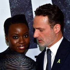 """""""danaigurirasource: """" Andrew Lincoln and actress Danai Gurira attend the premiere of AMC's 'The Walking Dead' Season 9 at the DGA theatre in Los Angeles on September 2018 """" I feel…stuff. Rick And Michonne, Rick Grimes, Happy Birthday Andy, Andy Lincoln, The Last Ship, Mr Right, I Will Fight, Black Sails, Still In Love"""