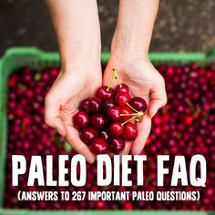 Paleo FAQ and approved food list