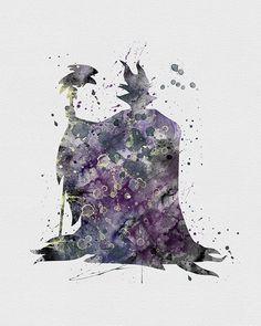 Maleficent Watercolor Art
