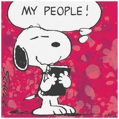 Snoopy holding album
