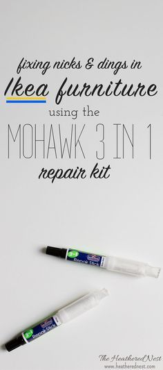 This Ikea paint pen repair kit post is sponsored by Mohawk Consumer Products. As always, opinions, cheesy jokes, and song references are 100% mine all mine. This post also contains affiliate links for your convenience. Please read our full disclosure poli
