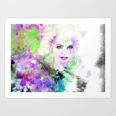 Green Eyes Art Print by Claudia Godinho - $24.96