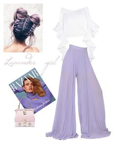 """Lavander girl"" by cristinnai on Polyvore featuring E L L E R Y, Elie Saab and Dolce&Gabbana"
