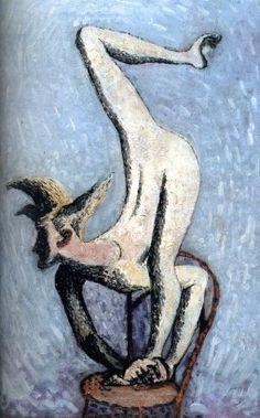 Frantisek Tichy, Snake Man (1931) oil painting on canvas,( Czech. Rep.)