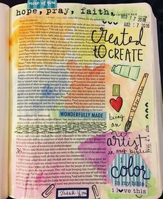 Exodus 35:31-32  we were created to create! Just working through my devotional. #biblejournalingcommunity #icolorinmybible #illustratedfaith #biblejournaling #bibleartjournaling #createdtocreate http://ift.tt/1KAavV3