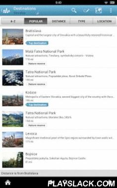 Slovakia Guide By Triposo  Android App - playslack.com , Features of Triposo's guide to Slovakia:★ Suggestions of what's interesting to see and do in Slovakia, depending on time, weather and your location;★ A detailed sights section with all the monuments of Bratislava, Košice, Nitra;★ Eating out section with the best restaurants in Bratislava, Košice, Nitra;★ Discover the nightlife of Slovakia! Bars, pubs & disco's in Bratislava, Košice, Nitra;★ Book hotels in Slovakia directly from the…