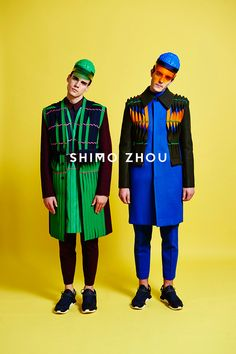 """Shimo Zhou, a MA menswear student from London College of Fashion, present us her """"SYMPHENTALITY"""" collection lookbook, featuring Alex Fakinos and Oxford Nielsen shot by Sebastian Böttcher. Make-up by Emma Ye."""