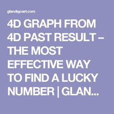4D GRAPH FROM 4D PAST RESULT – THE MOST EFFECTIVE WAY TO FIND A LUCKY NUMBER | GLANDI go Art