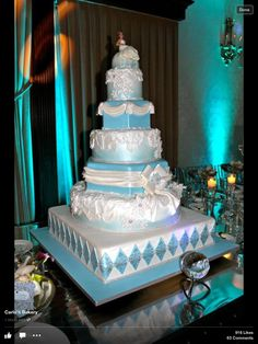 Winter Wonderland Cake idea from Buddy Valastro - The Cake Boss