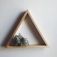 Image of Wooden triangle shelves