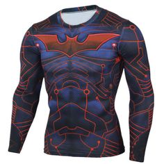 GearKong - Premium Gear Batman Long Sleeve Compression Shirt #dc #shirt #superhero #marvel #clothing #GearKong #LongSleeve #batman #CompressionShirt