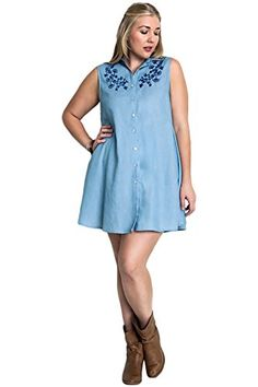 Umgee Plus Size Button Up Denim Sleeveless Shift Dress Umgee https://www.amazon.com/dp/B01FN6ES7Q/ref=cm_sw_r_pi_dp_e3Ywxb1DCN5DJ