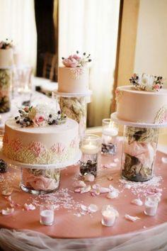 Multiple Wedding Cakes On Pinterest Wedding Cake Display