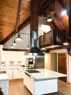 Kitchen Island Ideas With Stove Top, Stove Top Island, Kitchen Island With Stove, Kitchen Stove, New Kitchen, Island Table, Kitchen Islands, Kitchen Ideas, Kitchen Hoods