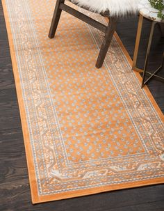 Unique Loom Allover Williamsburg Rug 9 x 10 Runner - Orange) (Polypropylene, Border) Small Area Rugs, Blue Area Rugs, Yellow Rug, Orange Area Rug, Area Rug Sizes, Outdoor Rugs, Colorful Rugs, Rug Runner, Living Area