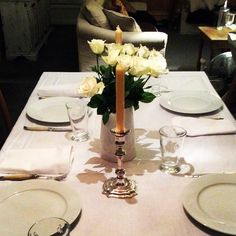 """""""One of my favourite table settings to date for a dining at Daisy experience to date. X #daisydining #daylesford #catering #daylesfordcatering #privatedinners #diningatdaisy #laguiole #pillivuyt #christofle #roses #elegant #boutiquecatering #daisystyle"""" Photo taken by @daisy_dining on Instagram, pinned via the InstaPin iOS App! http://www.instapinapp.com (06/20/2015)"""