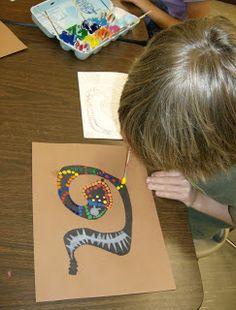 4th Grade Aboriginal Dot Paintings