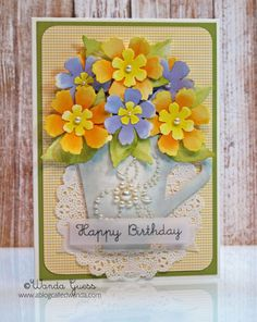 Tea-cup Birthday Card! by stampcatwg - Cards and Paper Crafts at Splitcoaststampers