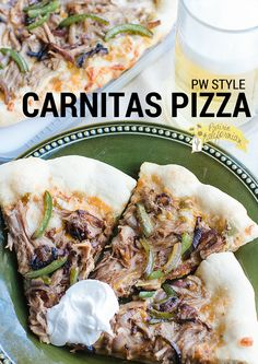 The Pioneer Woman style carnitas pizza