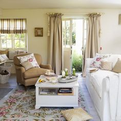 Golden country living room   Living room design   Decorating ideas   housetohome.co.uk