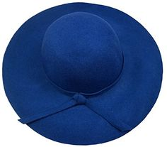 Bienvenu Women's Wide Brim Wool Ribbon Band Floppy Hat Royal Blue at Amazon Women's Clothing store:
