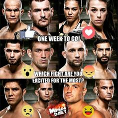 1 WEEK TO GO!! Which fight are you excited for the most? #UFC211 #mma #ufc