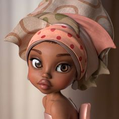 [image] Title: Girl Name: Hailey Yoon Hi guys, Here is my lastest personal artwork of texturing and shading. The concept art is from Raul Guerra and the Modeling has created by my beloved friend, Phoebe Kim. Black Love Art, Black Girl Art, Art Girl, Cartoon Kunst, Cartoon Art, African American Art, African Art, 3d Art, Black Girl Cartoon